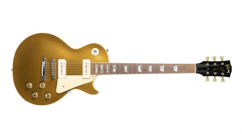 Brian Jones Les Paul Gibson Gold Top Guitar and Case