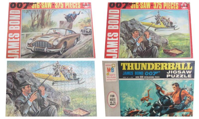 james bond jigsaws collage