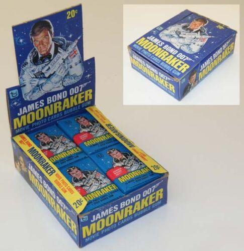 Box of MOONRAKER 1979 TOPPS Trading Cards