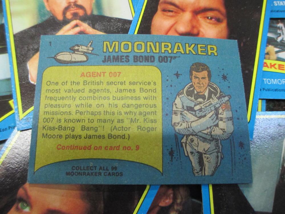 james bond moonraker collectors card reverse