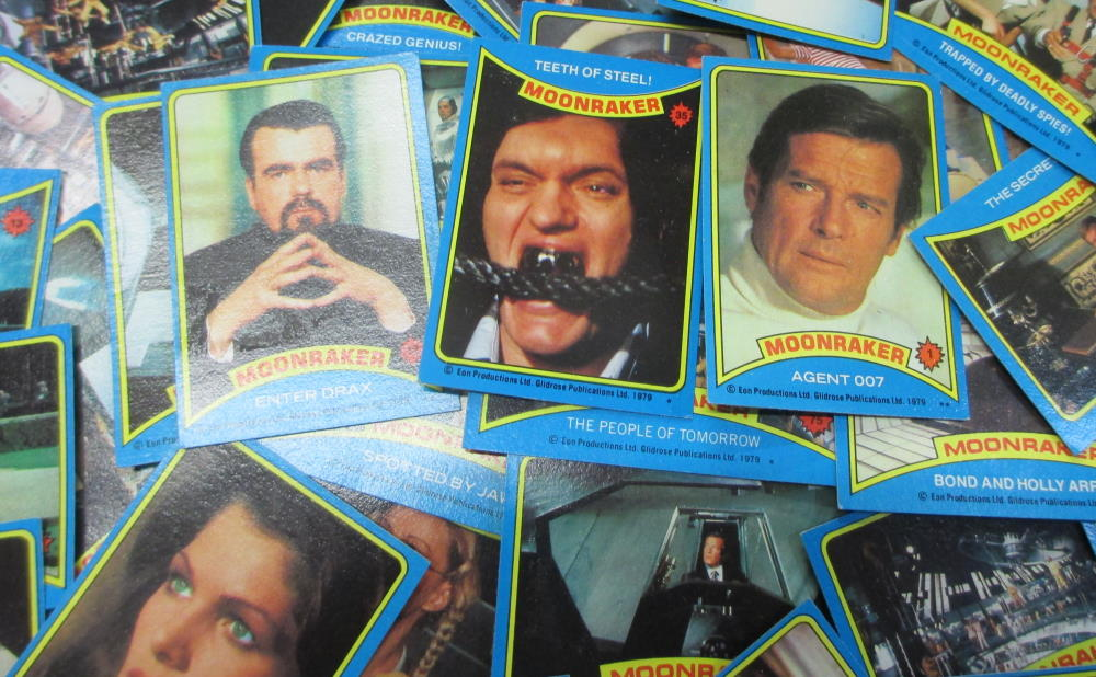 moonraker collectors cards jaws james bond and others