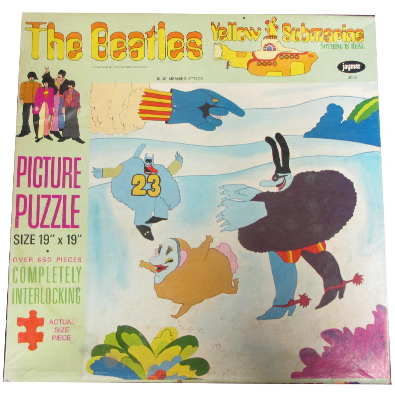 the beatles yellow submaribe jayamr jigsaw puzzle blue meanies invade