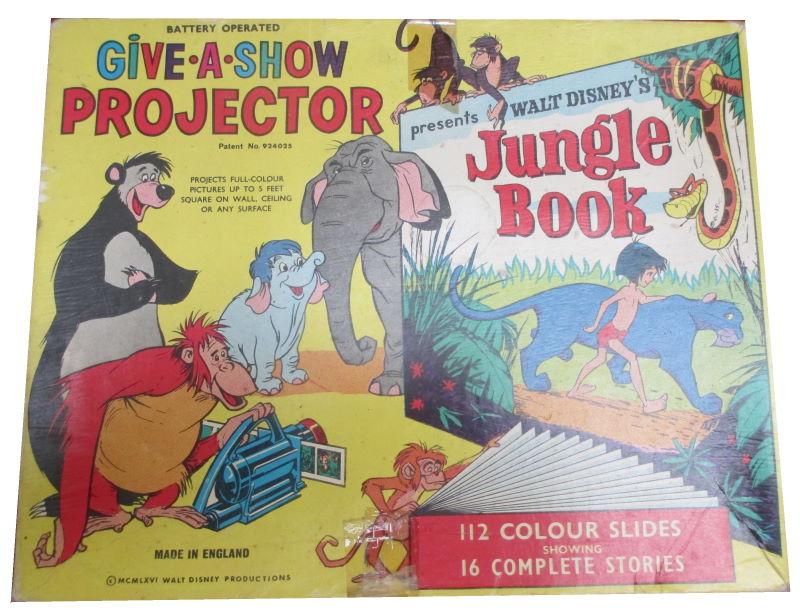 disney jungle book give a show projector