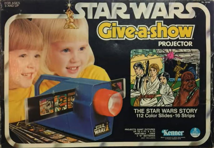 kenner star wars give a show projector