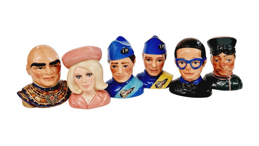 A set of six Beswick limited edition Thunderbirds ceramic busts