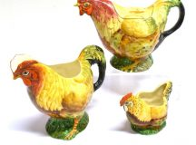 A Royal Winton Grimwades Chanticleer Three Piece Teaset