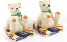 Clarice Cliff Teddy Bear Bookends