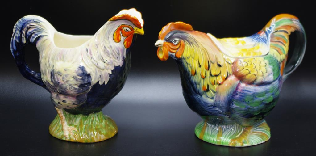 Art Deco Royal Winton rooster teapot and jug