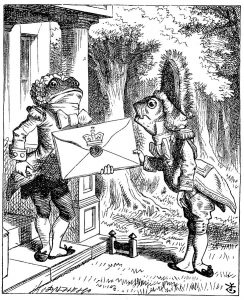 The Fish Footman and the Frog Footman from Alice's Adventures in Wonderland