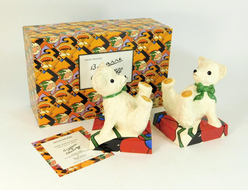 wedgwood clarice cliff bizarre bookends