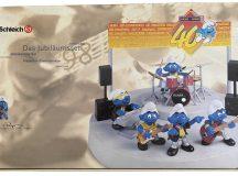 Smurfs 40th ANNIVERSARY 1998 Smurf Band Playset by SCHLEICH