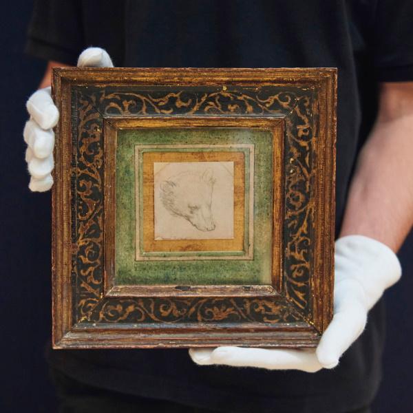 Hear of a Bear by Leonardo da Vinci in frame