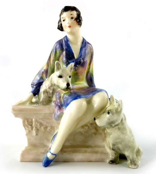 royal doulton scotties white dogs