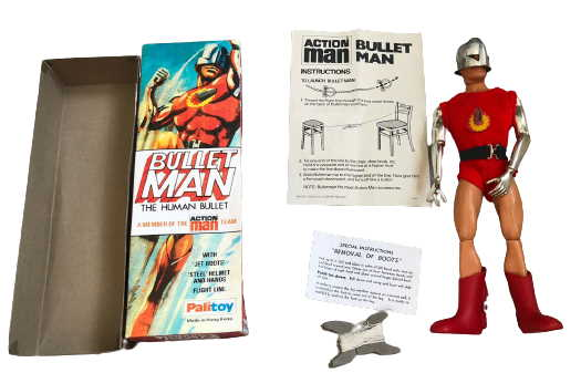 action man bullet man and contents