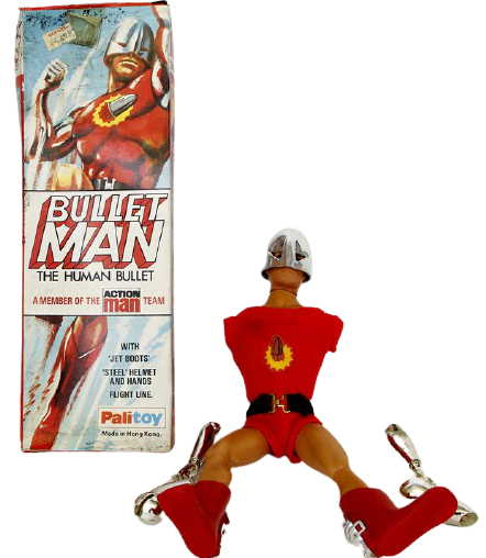 action man bullet man box and figure