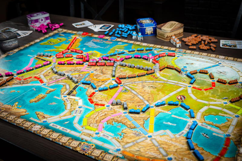 Ticket to Ride Europe 15th Anniversary Collectors Edition board layout
